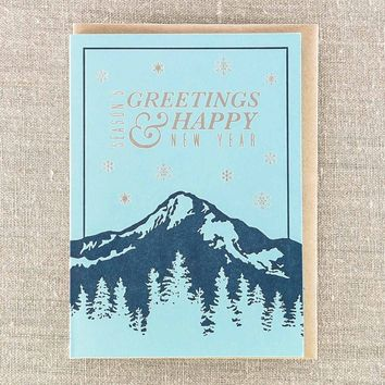 Seasons Greetings Happy New Year Card