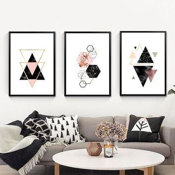 Geometric Poster Wall Pictures Wall Art Canvas Painting Nordic Decoration Home Posters Nordic Abstract Painting CanvasUnframed