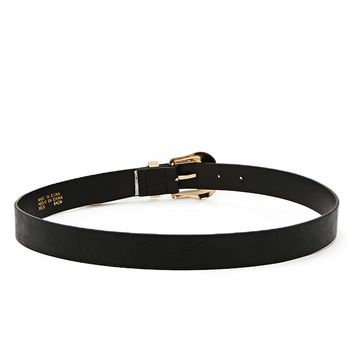 Etched Faux Leather Belt