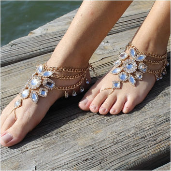GYPSY SOLE Barefoot Sandals Gold