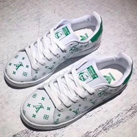 Adidas x Louis Vuitton x Supreme Superstar Women Men Shell-toe Flats Sneakers Sport Shoes
