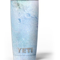 The Light Blue Cratered Moon Surface Yeti Rambler Skin Kit