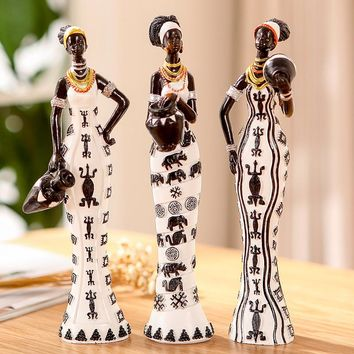 Creative accessories garden decoration ornaments African figure souvenirs doll ornaments Features arts craft suit resin fairy