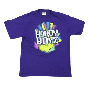 WWF HARDY BOYZ FEAR PURPLE T-SHIRT XL