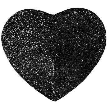 iCollection Lingerie Self Adhesive Black Heart Glitter Pasties