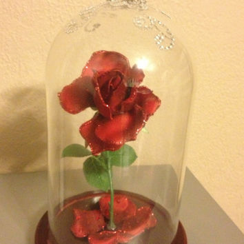Belle Beauty and the Beast Magical Wilting Rose Prop Custom Made