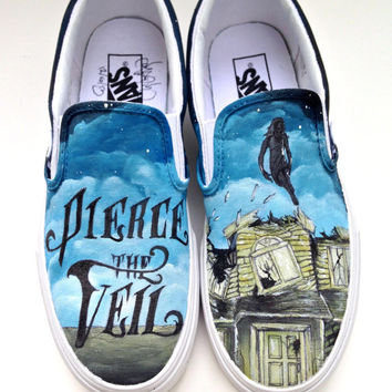 Custom Vans Hand Painted Shoes- Pierce the Veil