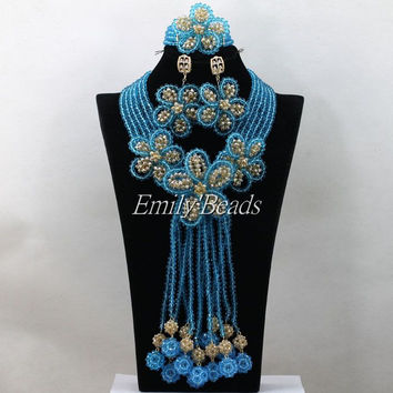 Traditional Wedding Costume African Beads Jewelry Set