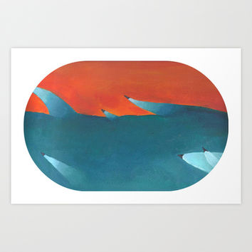 Reversed Crab Leg Art Print by zombix