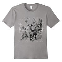 Winter Mountain Forest Deer t-shirt