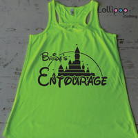 Brides entourage tank .Future Mrs. bridal shower.wedding gift.bride shirt. Bachelorette party. Disney. Funny top. Fairy tail wedding