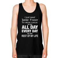 I just like Outlander Unisex Fine Jersey Tank (on man)