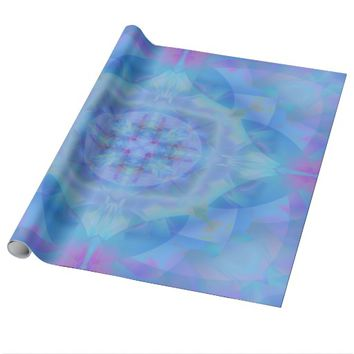 Blue dancer wrapping paper