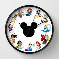 Time to be a Princess Wall Clock by Katie Simpson