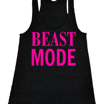 Beast mode Racerback Fitness Tank Top Workout Shirt Motivational Tank Top Gym Shirt Workout Tank Top Black IPW00047 NNP