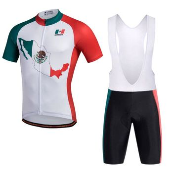 2018 Mexico National Cycling jersey bike shorts set Ropa Ciclismo quick dry MTB team pro cycling wear bicycle maillot Culotte