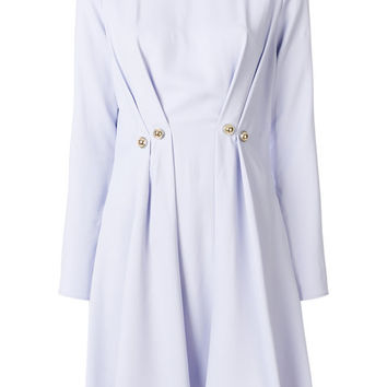 Carven Pleated Button Dress - Farfetch
