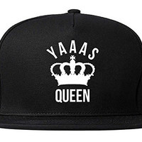 FASHIONISGREAT Yaaas Queen Yas Yaas Womens Snapback Hat Black