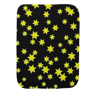 Yellow Stars Burp Cloth