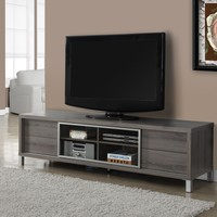 """Dark Taupe Reclaimed-Look 70""""L Euro Tv Console"""