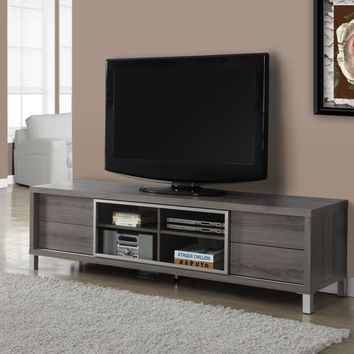 "Dark Taupe Reclaimed-Look 70""L Euro Tv Console"