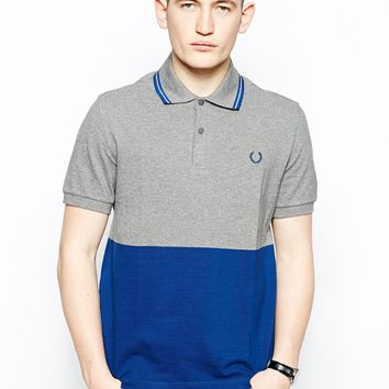 Fred Perry Laurel Wreath Polo Shirt with Block Colo