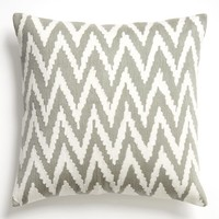 Chevron Crewel Pillow Cover - Platinum