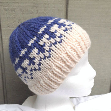 Fair Isle hat - Knitted beanie - Womens wool hat - Teens accessories - Fair Isle beanie - Womens knitted hat