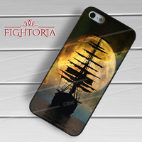 OUAT Pirate Ship Moonlight Ocean on Nebula -tri for iPhone 4/4S/5/5S/5C/6/6+,samsung S3/S4/S5/S6 Regular/S6 Edge,samsung note 3/4