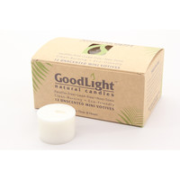 Good Light All Natural White Mini Votive Candles (12 Count) Non-Toxic Palm Wax and Cotton Wick
