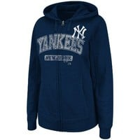 MLB New York Yankees Real Flava Long Sleeve Full Zip Hoodie Women's