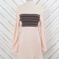 Altar'd State Ribbed Knit Sweater Dress In Cream | Altar'd State