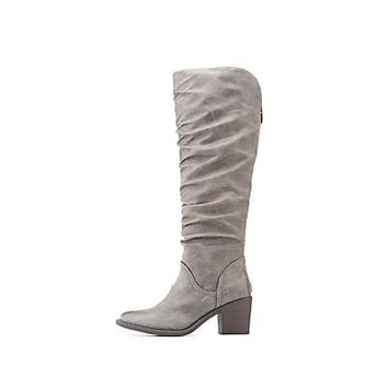 Qupid Ruched Riding Boots | Charlotte Russe