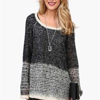 Loft Knit Sweater in Black