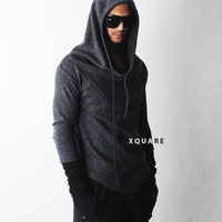 Dark Turtle Hooded Woolen Arm Warmer Sweater - restock