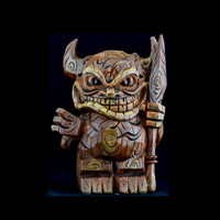 Adorable Tiki Warrior Coin Piggy Bank
