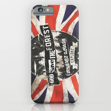 God save the forest iPhone & iPod Case by HappyMelvin