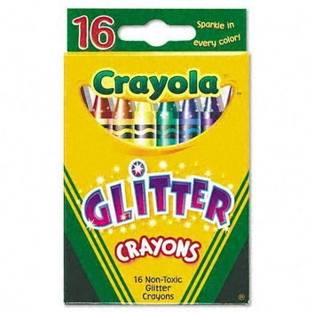 Crayola 52-3716 Glitter Crayons Assorted Colors 16 Count (Pack of 2)