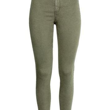 Super Skinny High Jeans - Khaki green - | H&M GB