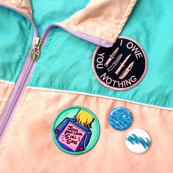 Join Your Local Girl Gang Embroidered Iron-On Patch - Feminist Girl Power Patch Game Girlfriend Gift
