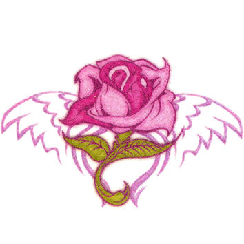 Pink Rose Temporary Tattoo 1.5x2
