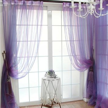 Super Deal  Green Tree Tulle Door Window Curtain Drape Panel Sheer Scarfs Valances XT