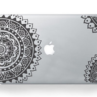 Macbook Vinyl Sticker Decal for Macbook Pro Air - Sacred Geometry -Spiritual Decal for macbook - Laptop Sticker - Polynesian, Aztec Skin