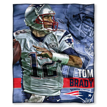 New England Patriots NFL Tom Brady Silk Touch Throw (50in x 60in)