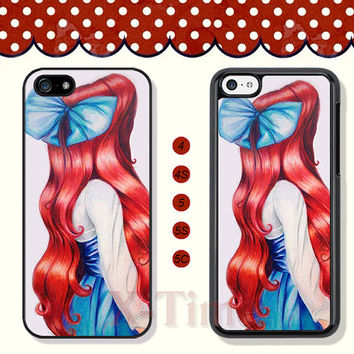 The little mermaid, Ariel, iPhone 5 case iPhone 5c case iPhone 5s case iPhone 4 case iPhone 4s case, Samsung Galaxy S3 \S4 Case --X50852