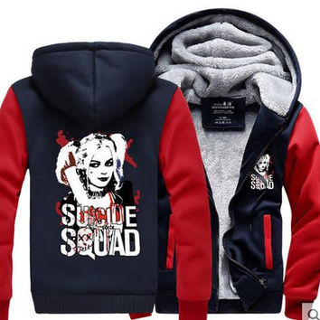 Suicide Squad Harley Red Cosplay Coat Hoodie