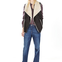 Gilet with Oversized Lapel