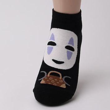 No Face Spirited Away Socks