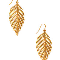 Cutout Leaf Earrings