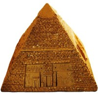 Eqyptian Collection Pyramid Jewelry Box, Poly Resin, Large Size